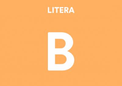 Mă joc cu litera B