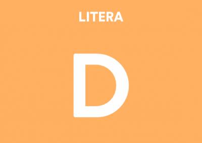 Mă joc cu litera D