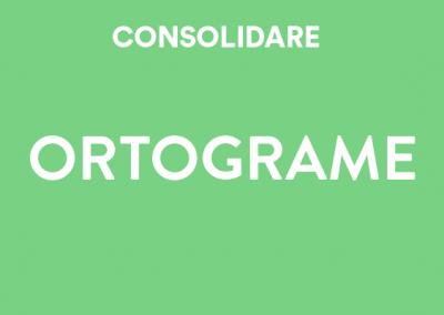 Consolidare ortograme